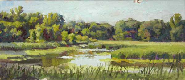 MInnesota Marsh, oil on linen