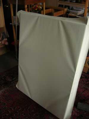 preparing a canvas, Jeffrey Smith
