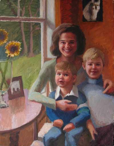 Jeffrey Smith oil portrait, Work in progress.