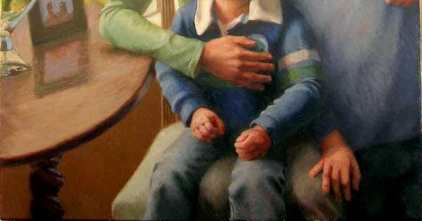 Jeffrey Smith, oil on canvas, portait detail