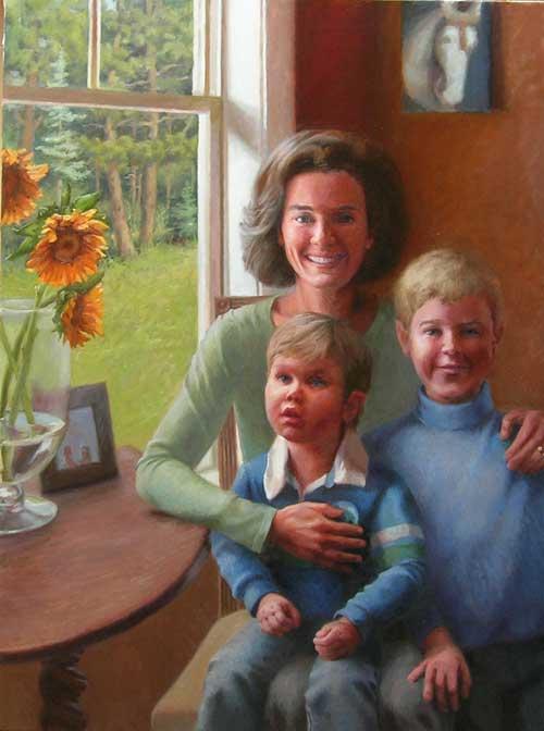 Portrait painting, by Minneapolis artist, Jeffrey Smith