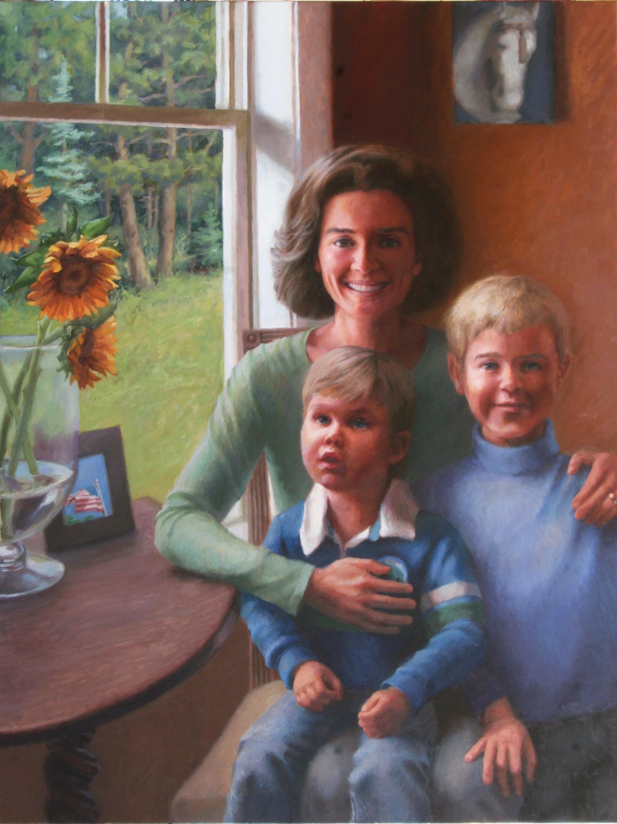 Portrait painting, Final. Minneapolis, Minnesota painter Jeffrey Smith