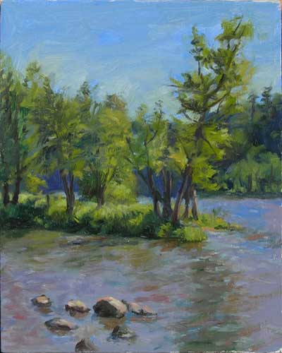 St. Croix River | outdoor painting just like the picture in the catalog.