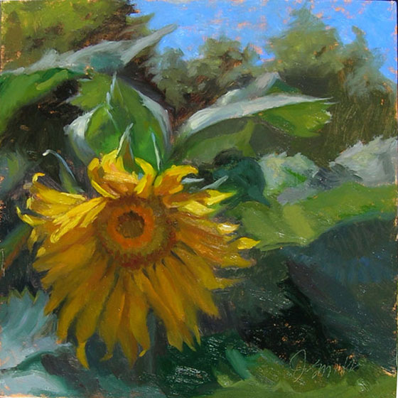Plein Air Sunflower | ready for my close up