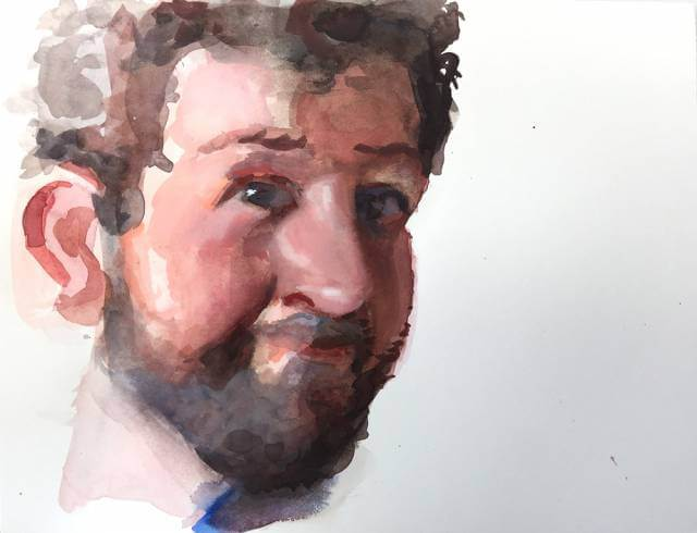 Jeffrey Smith | watercolor self portrait