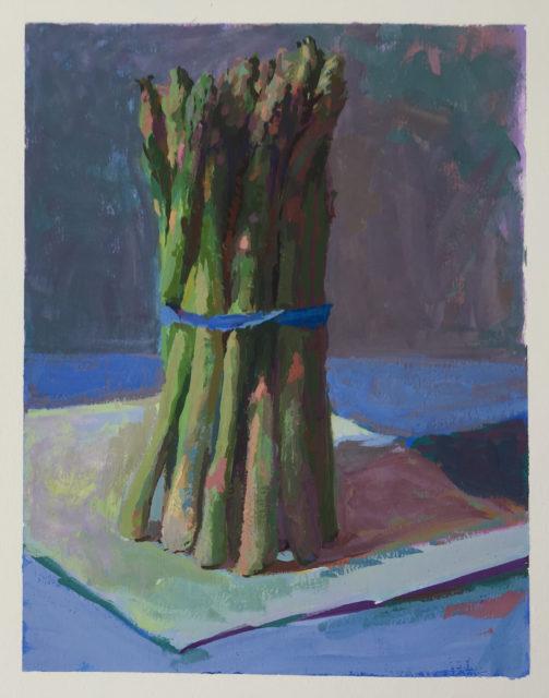 Asparagus | gouache on paper | Jeffrey Smtih