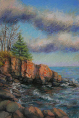 Along the North Shore | pastel painting | Jeffrey Smith