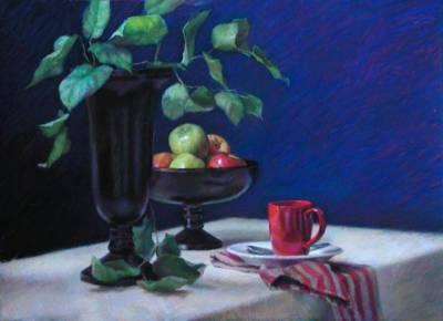 Green Leaves | Pastels | Jeffrey Smith Art