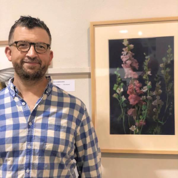 Minneapolis artist Jeffrey Smith at the Minnesota State Fair Fine Arts show