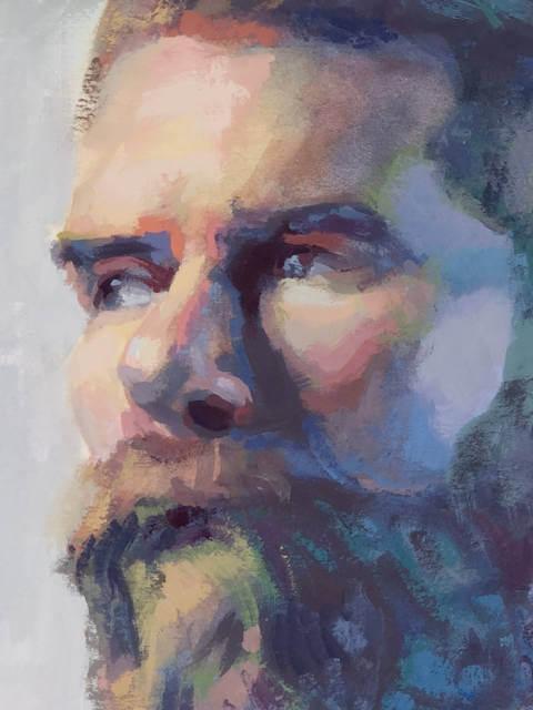 Portrait painting detail