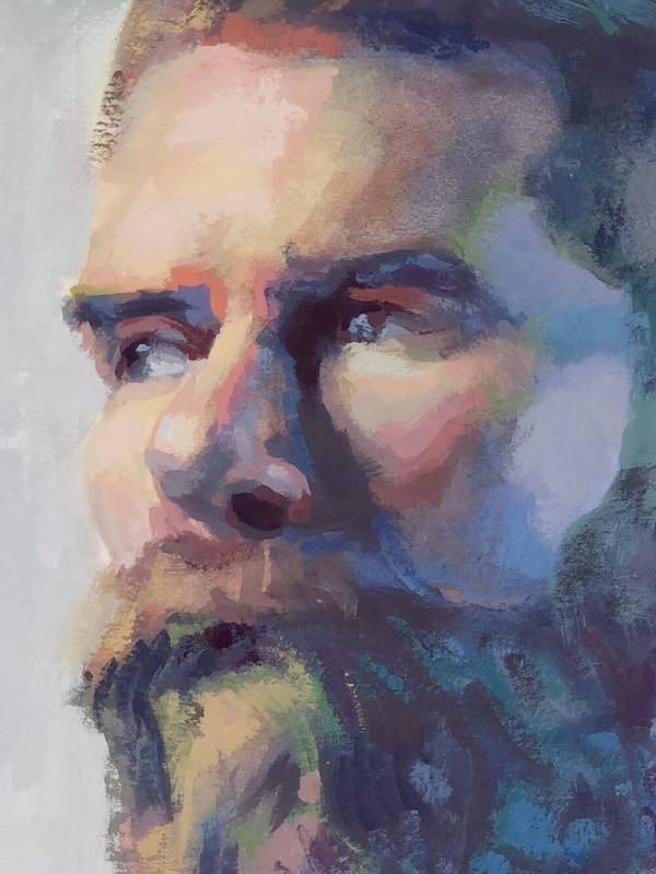 Portrait painting detail