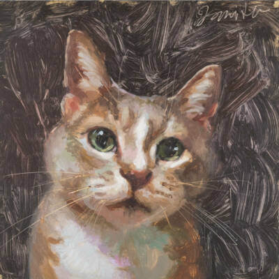 Oil painting of a cat by Minnesota artist Jeffrey Smith
