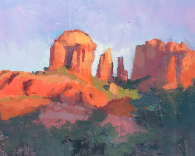 Cathedral Rock at Sunset, Sedona, by Jeffrey Smith